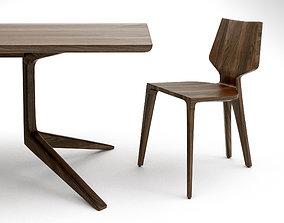 3D model De la Espada Mary dining chair and 393F Table