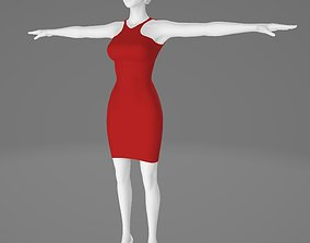 Woman Clothing T-Pose 531 3D model