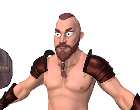 cartoon barbarian 3D asset