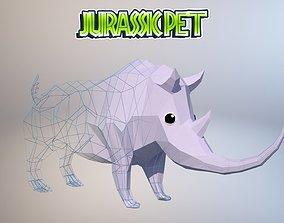 Woolly rhinoceros 3D asset