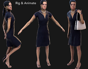 3D asset Female Rig and Animate