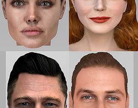 3D model Hollywood actors pack - Jolie Pitt Stone Gosling