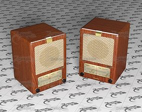 3D asset Old radio
