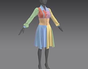 3D model Women frock midi marvelous file