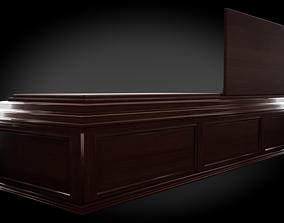 Classic Wood Coffin 3D