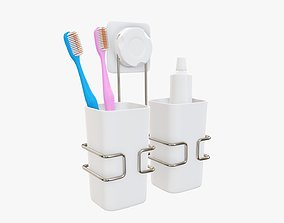 3D Toothbrush set paste cups holder