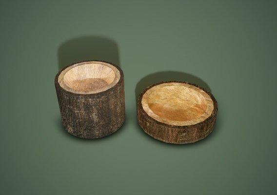 Wooden Bark Bowls