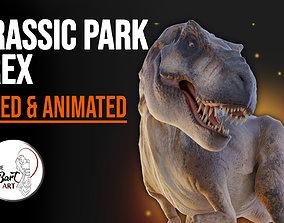 Jurassic Park Tyrannosaurus Rex Blender Low-poly 3D model