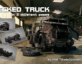 PBR Wrecked truck model in 3 different poses