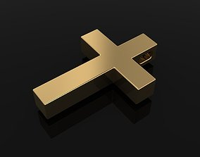 3D print model BOXED CROSS ANTIQUE RUSTIC STYLE 2
