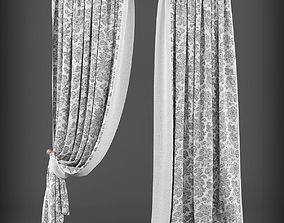 Curtain 3D model - 195 realtime