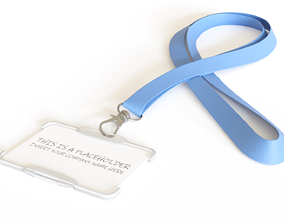 Badge Holder with Lanyard 3D model