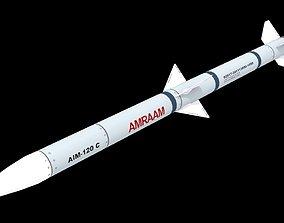 3D asset Missile AIM-120 c