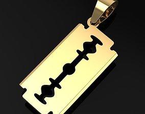 3D print model Razor blade pendant