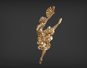 brooch ballerina 3D printable model
