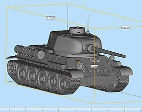 T 34 Highly Detailed 3D print model