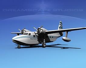 Grumman G-73 Mallard West Coast Air 2 3D model