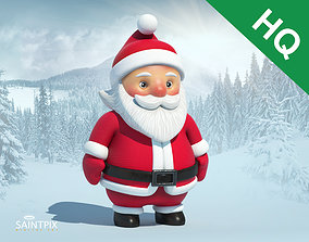 Santa Claus 3D asset low-poly