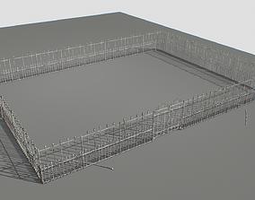 Railing Fence pack 4 3D asset