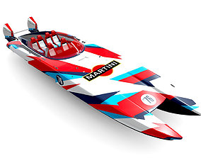 Mystic Powerboat C3800 MARTINI race 3D model