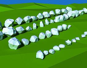 3D model Low Poly Rocks Pack