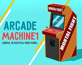 3D asset Arcade Machine 1