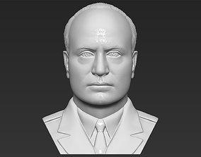 Benito Mussolini bust 3D printing ready stl obj formats