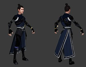 3D model Chinese Male Character Warrior Killer Thieves 1