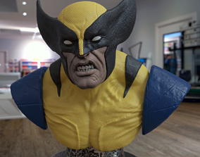figurines Wolverine Bust 3D print model