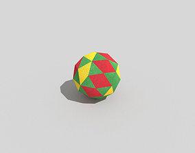 low poly beach ball 3D model