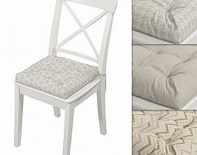 Ikea Ingolf chair with a pillow Hoff with 3D model 1