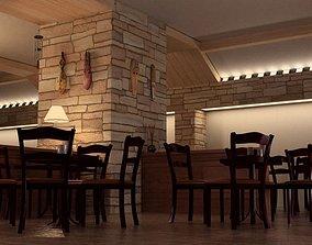 3D Dining Caffe Interior