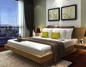 3D model Bedroom apartment