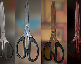 3D asset Scissors Rigged And Animated Pack