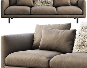 EQ3 Replay leather sofa 3D model