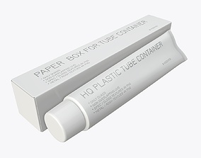 Toothpaste with box 03 3D