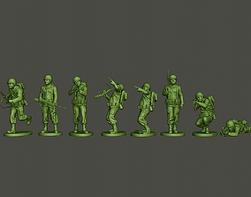 American soldier ww2 A3 Pack 3D