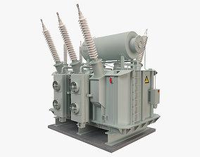 Electrical Transformer 2 3D model