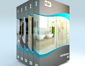 3D 5 Bathrooms Collection 01