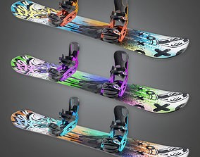 Snowboard 01a - SAG - PBR Game Ready 3D model