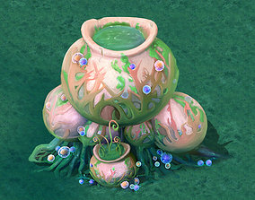3D model ganoderma Cartoon version - petrol spores 07