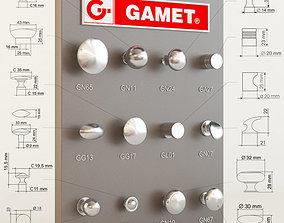 3D model Gamet furniture knobs