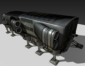 Scifi Freighter 3D asset