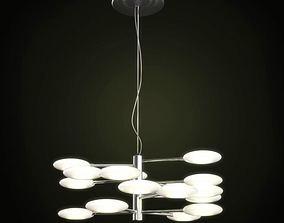 3D model Ceiling Metallic Lamp