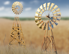 3D model VR / AR ready Wind generator