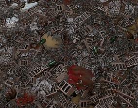 3D asset PBR seamless postapocalyptic dump ground textures