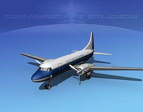 3D model Convair CV-340 Gulf Coast Air Charters