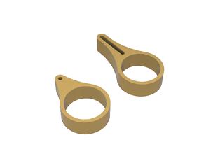Raptor tail rod guides 3D print model