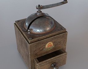 3D rigged Old Cofee Grinder