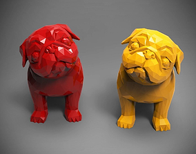 Polygon Pug 3D printable model